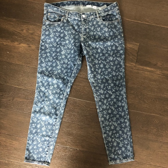 Old Navy Denim - 💙Floral denim NWOT